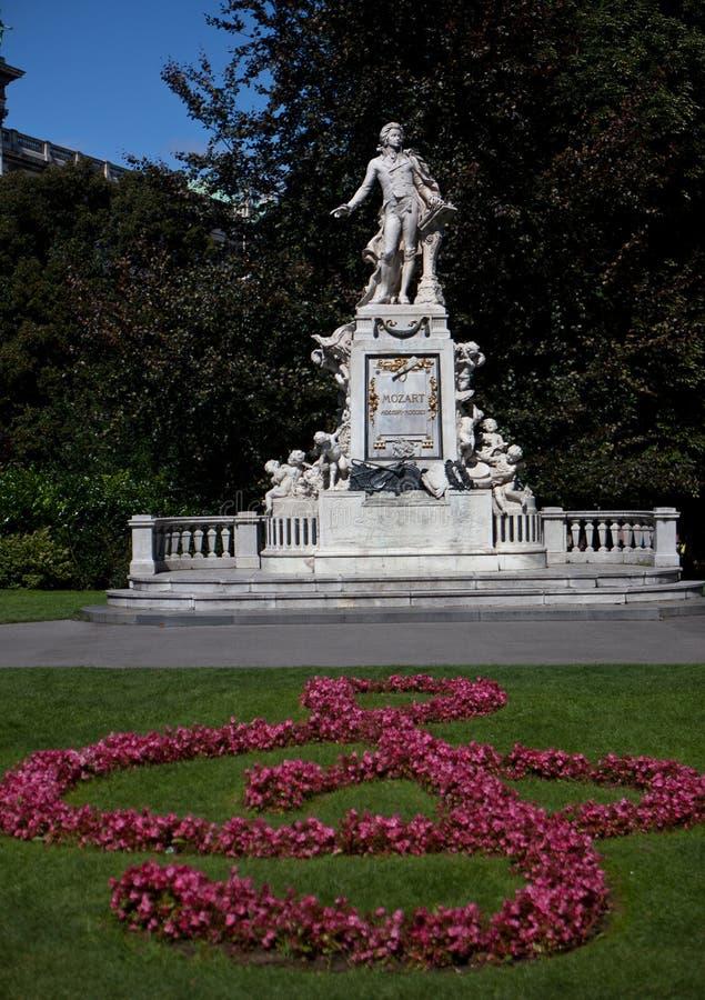 Het marmeren standbeeld Wenen van Mozart royalty-vrije stock foto