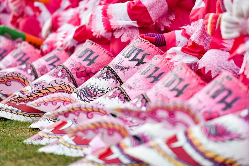 Het Masker Roze internationale Festival 2018 stock afbeeldingen