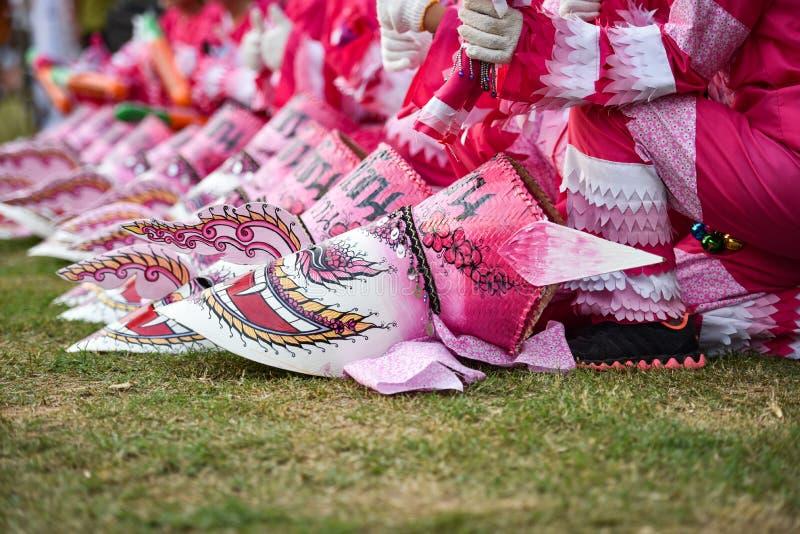 Het Masker Roze internationale Festival 2018 royalty-vrije stock foto