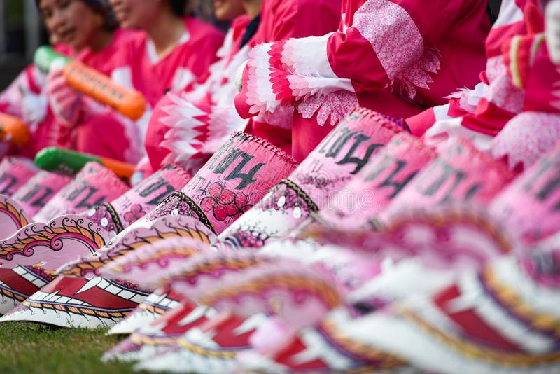 Het Masker Roze internationale Festival 2018 royalty-vrije stock fotografie