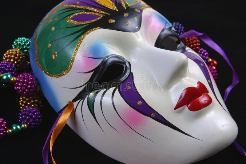 Het Masker Sideview van Gras van Mardi stock afbeeldingen
