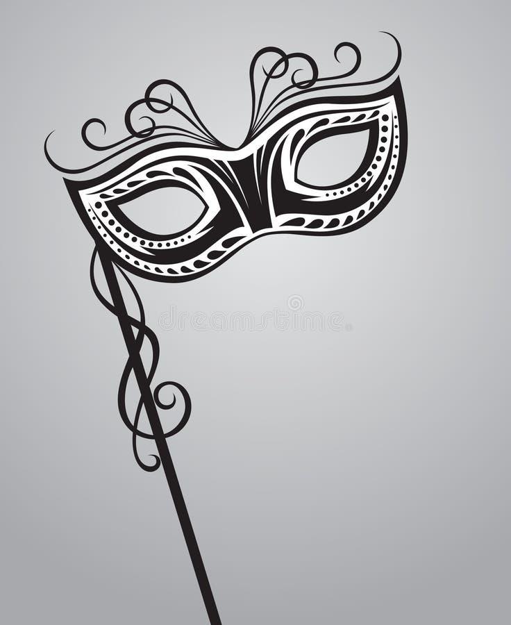 Het masker van Carnaval royalty-vrije illustratie