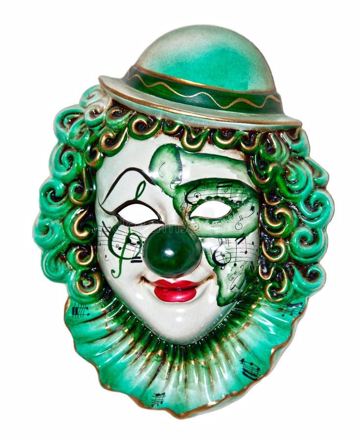 Het masker van de clown stock fotografie