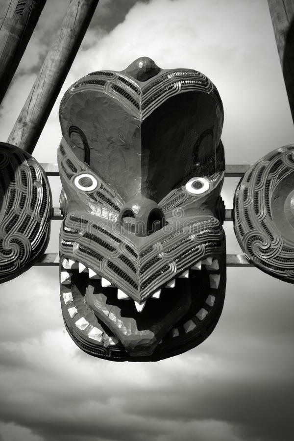 Het masker van de Maoristijl stock fotografie