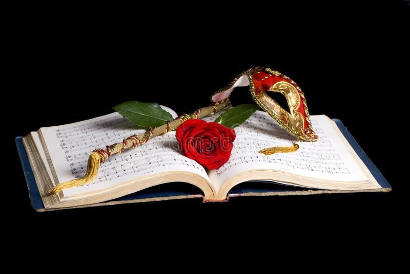 Het Masker van de muziek royalty-vrije stock fotografie