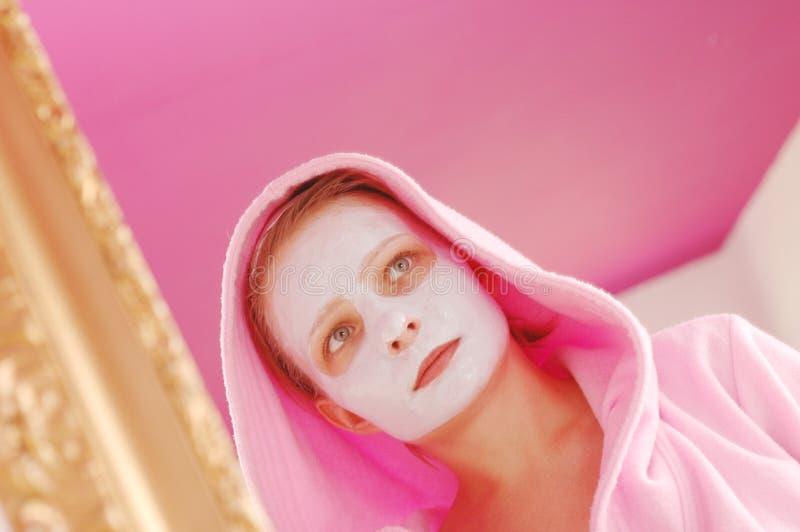 Het masker van de schoonheid stock foto's