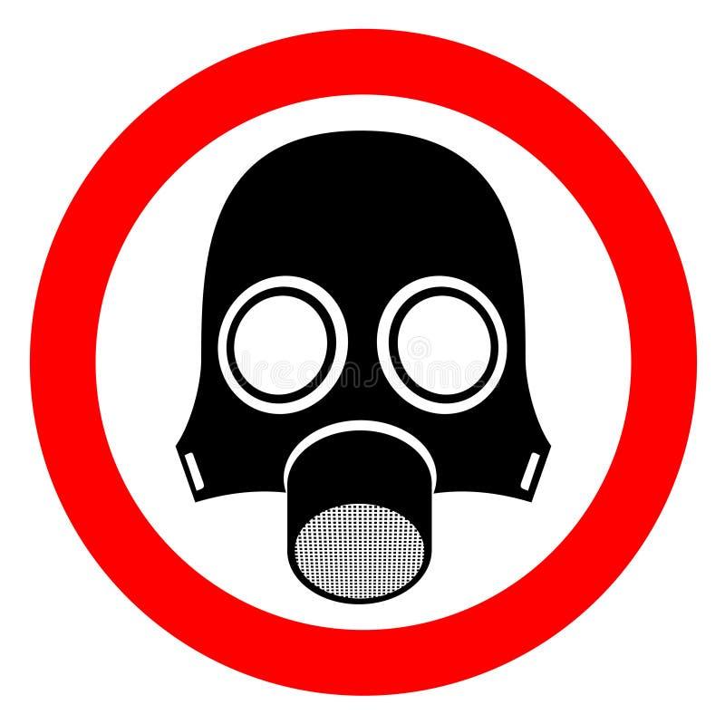 Het masker van de straling stock illustratie