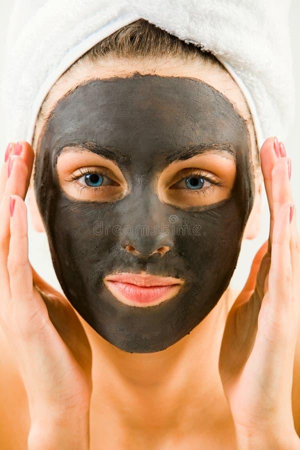 Het masker van het gezicht stock afbeelding