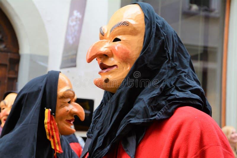 Het Masker van Konstanz Fasnacht stock afbeeldingen