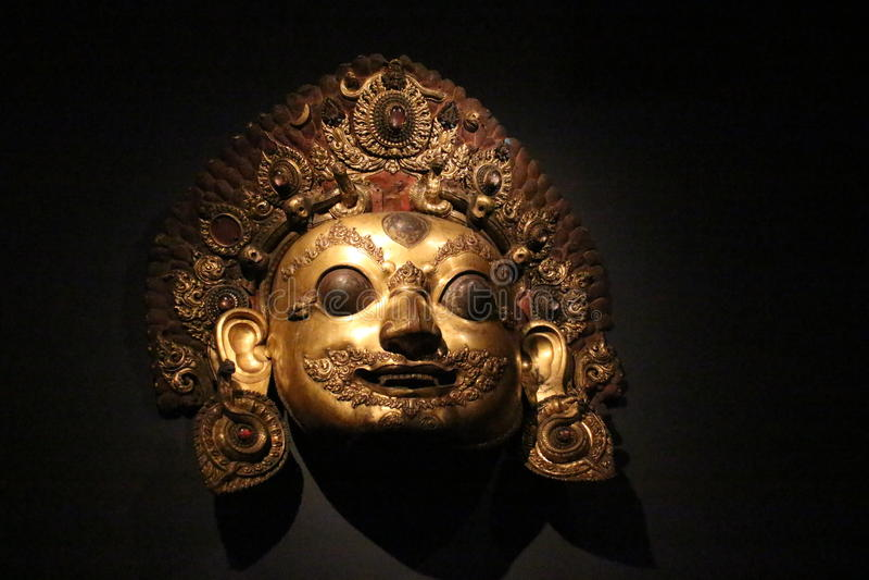Het masker van Nepal royalty-vrije stock foto's