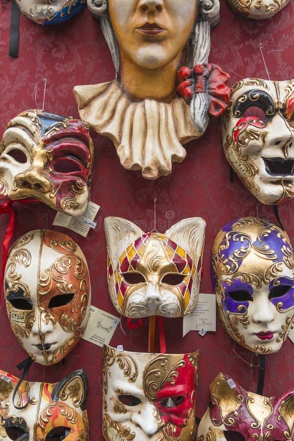 Het masker van Venetië, Italië stock afbeeldingen