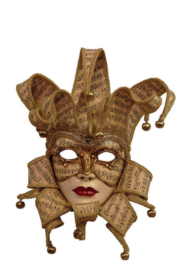 Het masker van Venetië met het knippen van weg royalty-vrije stock fotografie