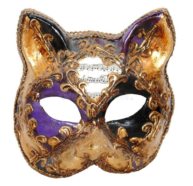 Het masker Venetië van de kat royalty-vrije stock foto