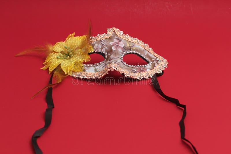 Het masker voor Purim-vakantie van vierings de Joodse Carnaval en schittert achtergrond Se stock afbeeldingen