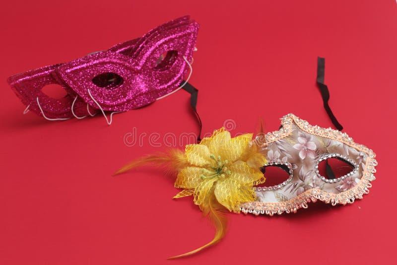 Het masker voor Purim-vakantie van vierings de Joodse Carnaval en schittert achtergrond Se royalty-vrije stock afbeeldingen