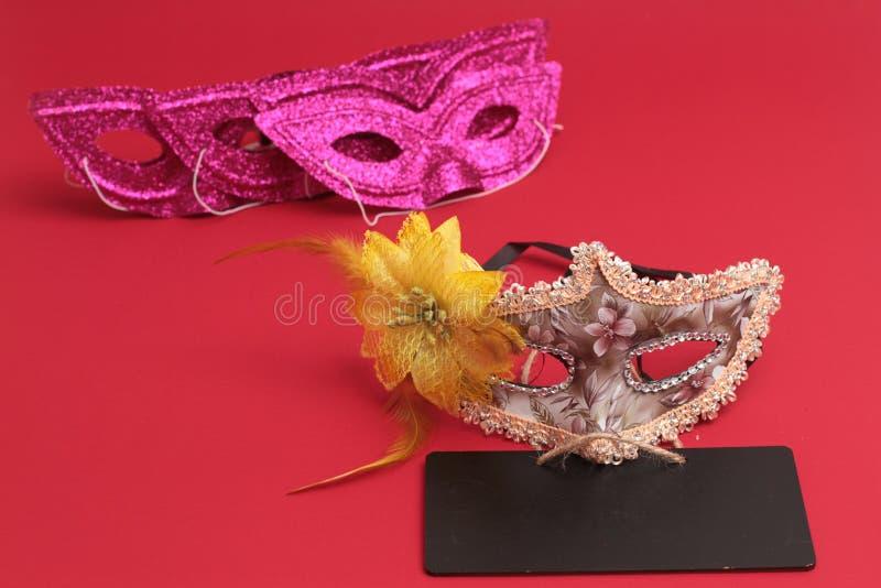 Het masker voor Purim-vakantie van vierings de Joodse Carnaval en schittert achtergrond Se royalty-vrije stock afbeelding