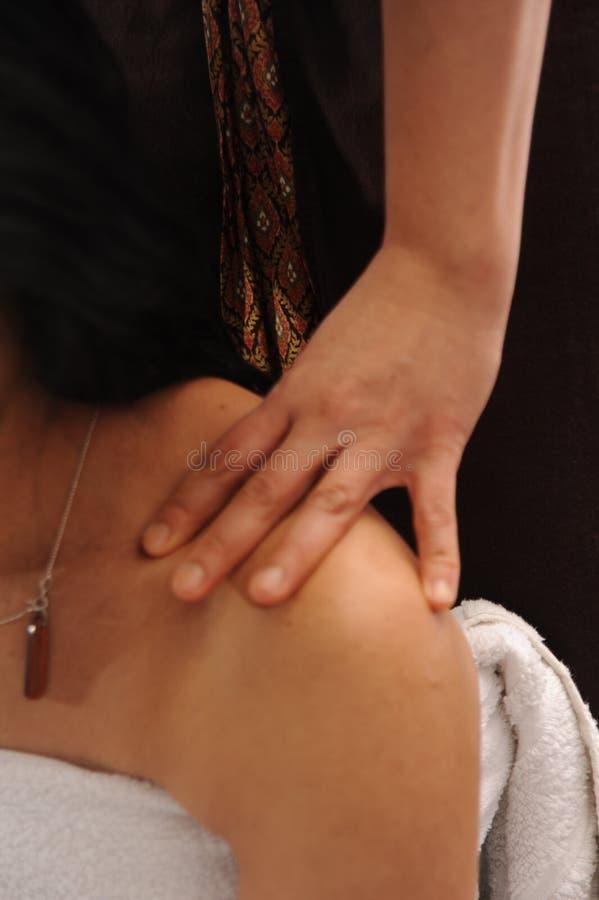 Het masseren van het lichaam royalty-vrije stock foto's