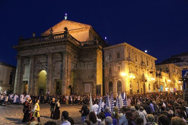 Het Mastrogiurato Middeleeuwse Historische Weer invoeren, Lanciano Italië stock afbeelding