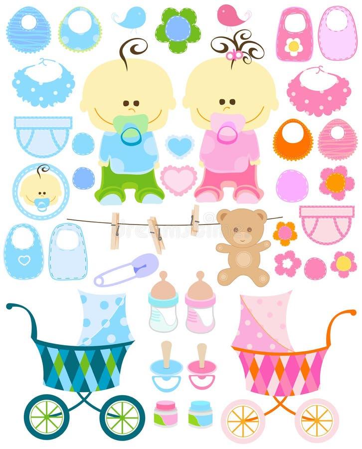 Het materiaal van de baby stock illustratie