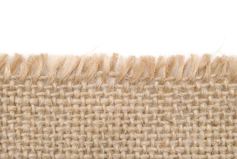 Het materiaal van de jute stock afbeelding