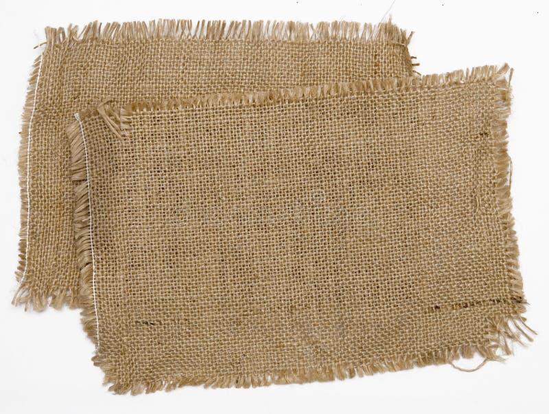 Het materiaal van de jute stock fotografie