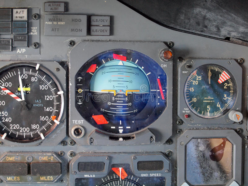 Het Materiaal van de straalvliegtuigencockpit stock fotografie