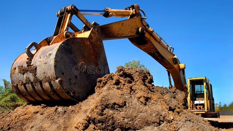 Het Materiaal van de uitgravingsbouw royalty-vrije stock afbeelding