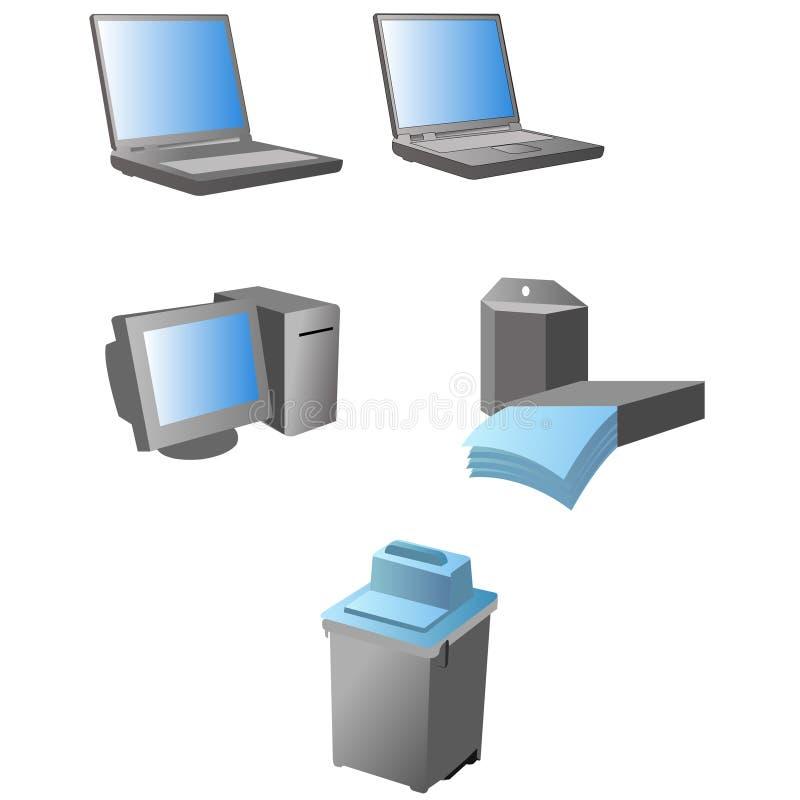 Het materiaal van het bureau vector illustratie