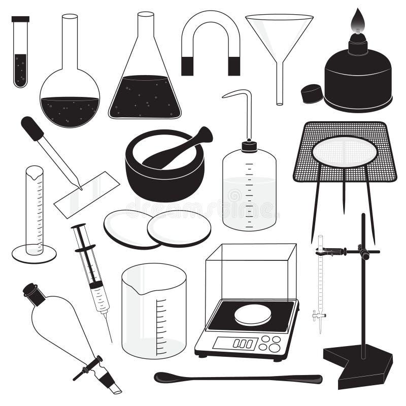 Het Materiaal van het wetenschapslaboratorium vector illustratie