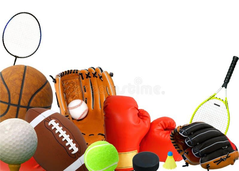 Het Materiaal van sporten stock afbeelding