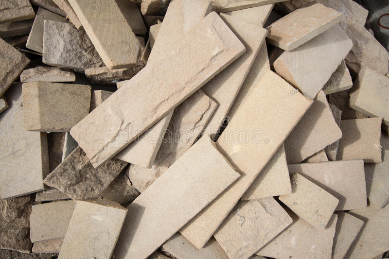 Het Materiaal van tegels van vernietigd huis royalty-vrije stock foto's