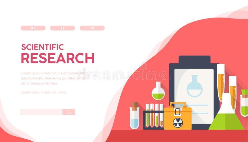 Het Materiaal van het wetenschapslaboratorium Medische onderzoek vector illustratie