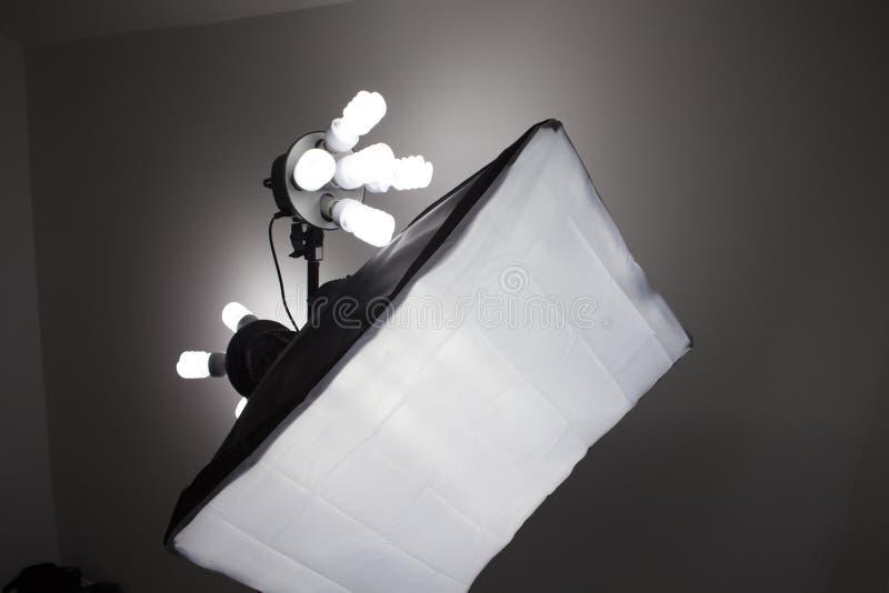 Het materiaalverlichting van de fotografiestudio stock foto