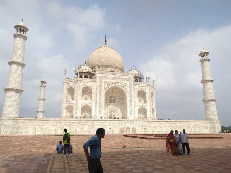 HET MAUSOLEUM INDIA VAN TAJ MAHAL royalty-vrije stock foto