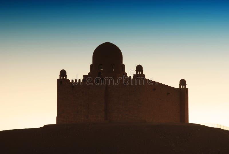 Het Mausoleum van Aga Khan, Aswan, Egypte royalty-vrije stock foto's