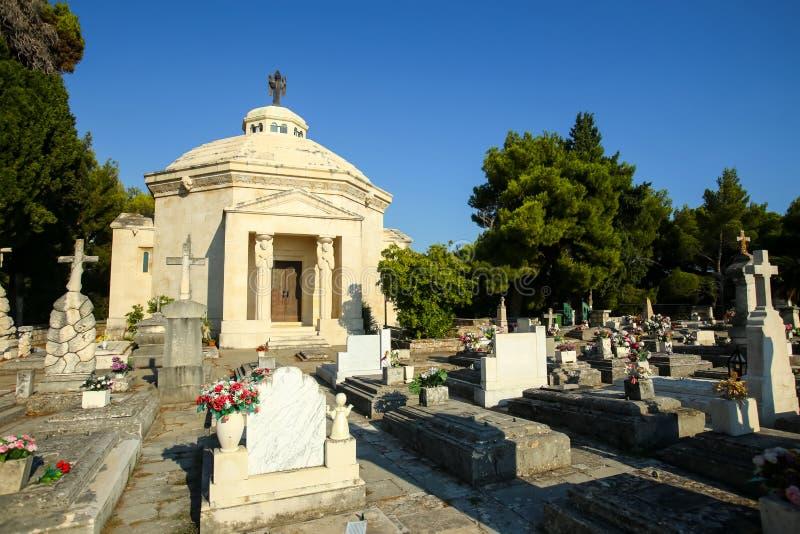 Het mausoleum van de Racicfamilie in Cavtat stock afbeelding