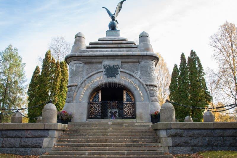 Het mausoleum van John Ericsson in Filipstad royalty-vrije stock foto's