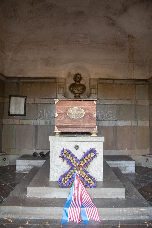 Het mausoleum van John Ericsson in Filipstad stock afbeelding