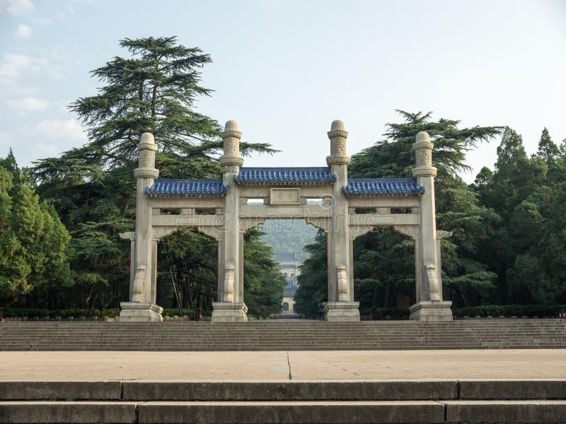 Het Mausoleum van The Sun yat-Sen royalty-vrije stock afbeeldingen