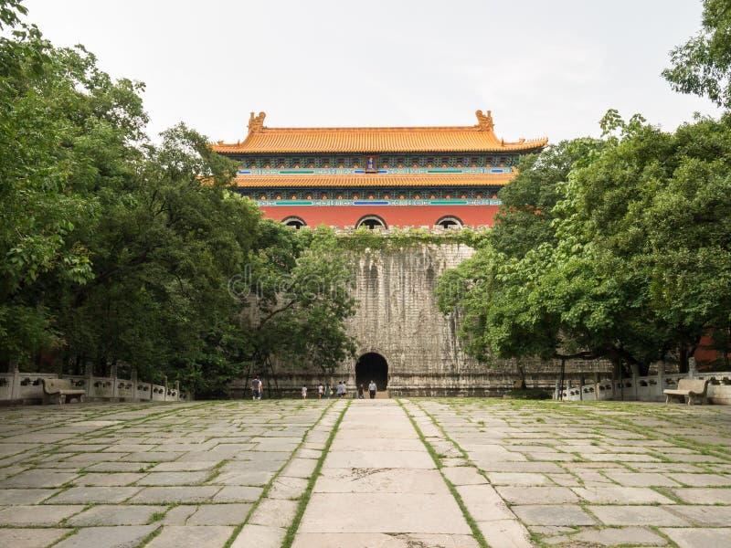 Het Mausoleum van Xiaoling van Ming stock afbeeldingen