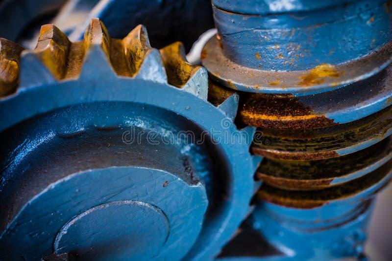 Het mechanische radertje van het zwaar metaalwiel royalty-vrije stock afbeelding