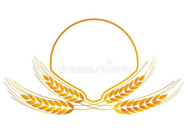 Het medaillon van de tarwe voor embleem stock illustratie
