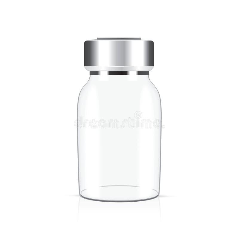 Het medische flesje van het glas stock illustratie