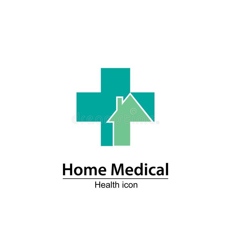 Het medische symbool van het huis Verpleeghuis royalty-vrije stock fotografie