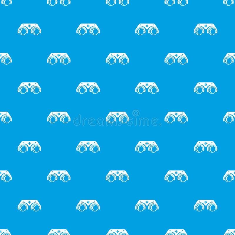 Het medische vector naadloze blauw van het glazenpatroon royalty-vrije illustratie