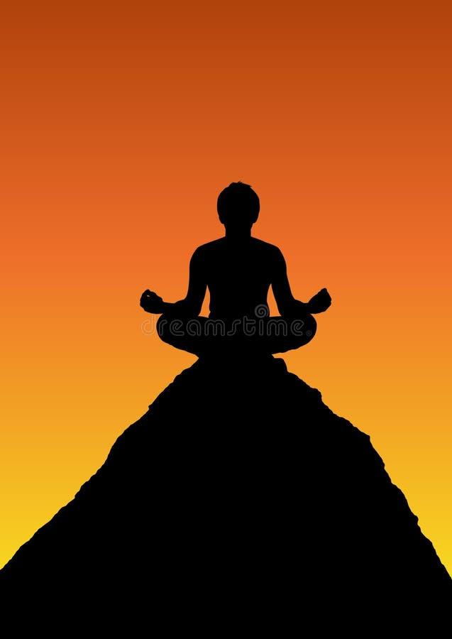 Het mediteren royalty-vrije illustratie