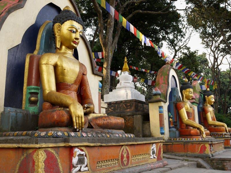 Het mediteren Buddhas stock fotografie