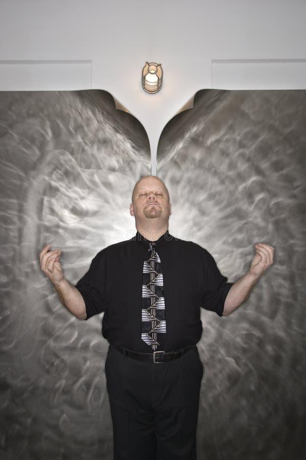 Het mediteren van de mens. royalty-vrije stock foto