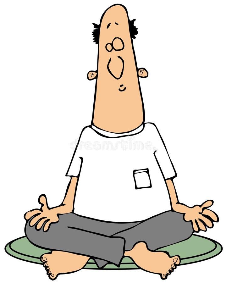 Het Mediteren Van De Mens Stock Afbeeldingen