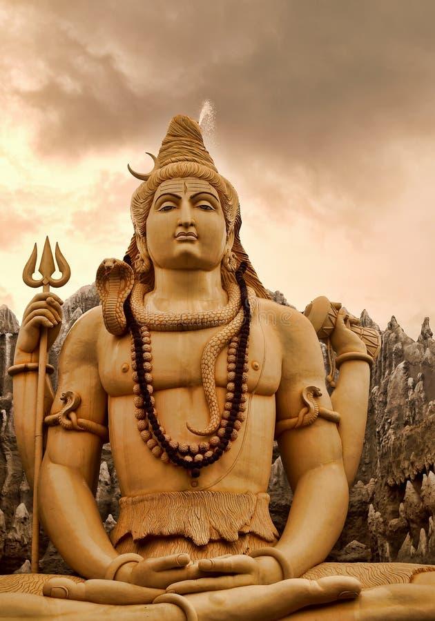 Het mediteren van Lord Shiva royalty-vrije stock foto
